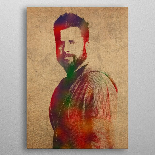 James Roday Psyche Million Little Things Watercolor Portrait metal poster