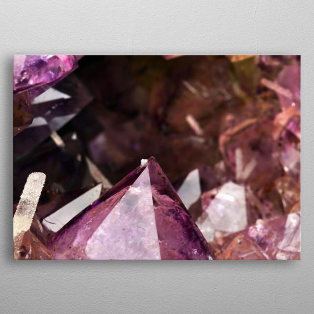 Amethyst Mineral Specimen metal poster