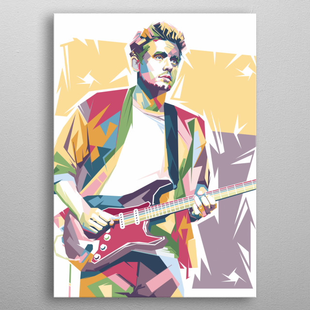 an American singer-songwriter, guitarist, and record producer metal poster