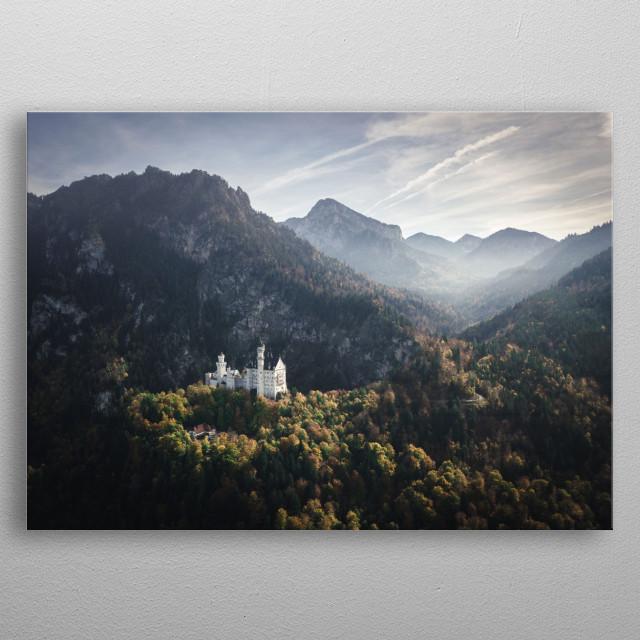 Neuschwanstein castle, Germany metal poster