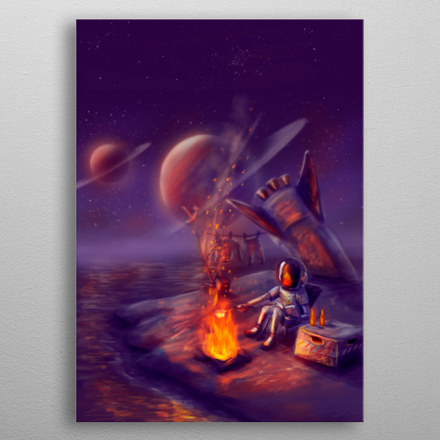 the art of getting lost on other planets. metal poster