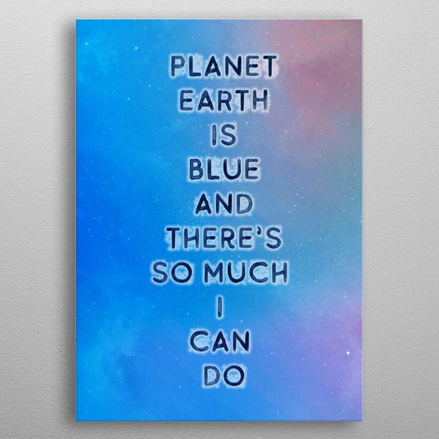 Planet Earth Frankenberg TypoWorks, © Frankenberg 2019  Save our Planet metal poster
