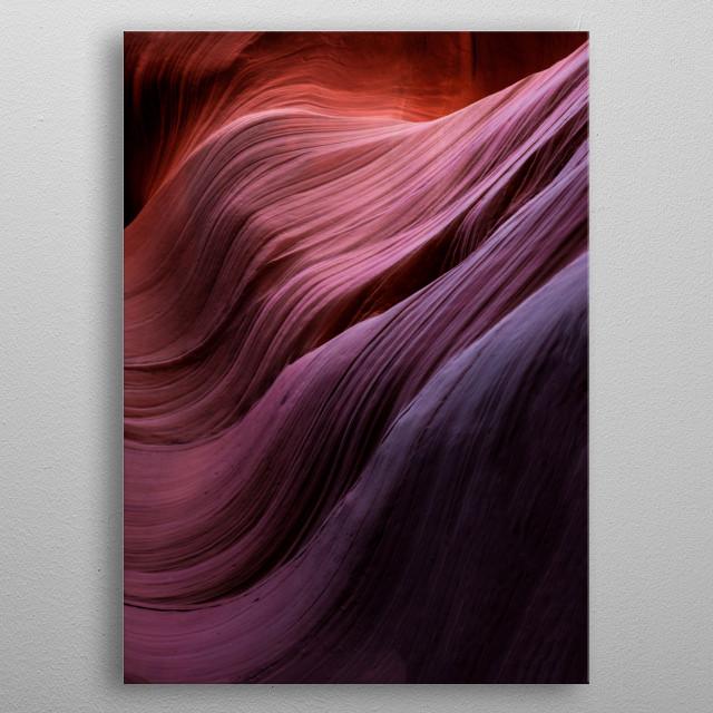Antelope Canyon, USA metal poster