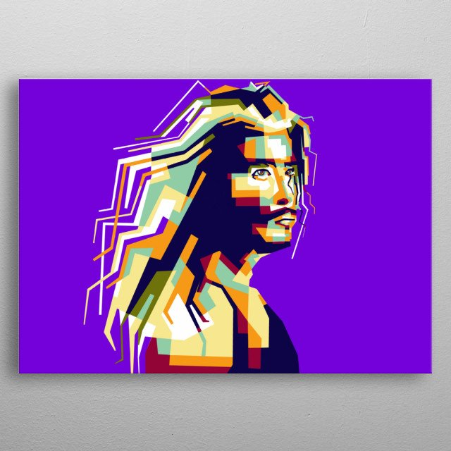 Thor artist legend musician america in style wpap popart portrait colourful  metal poster
