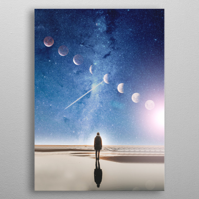 Searching beyond your imagination metal poster