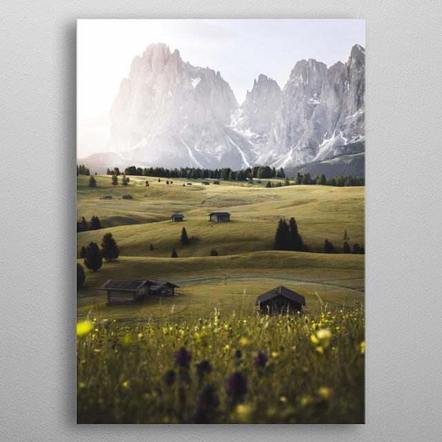 Alpe di Siusi, Italy metal poster