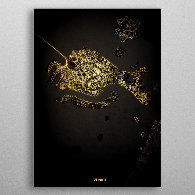 Venice, Italy metal poster