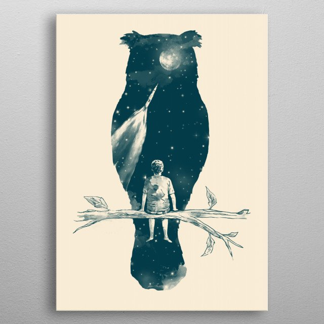 as vast as the universe  metal poster