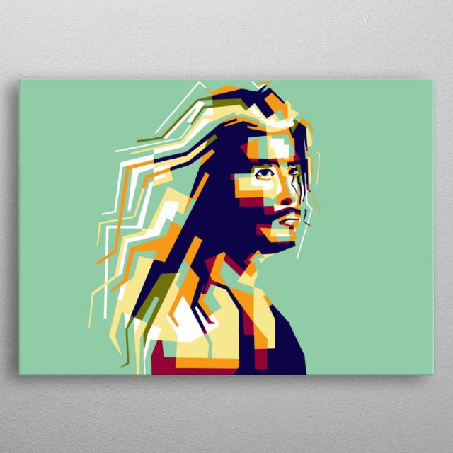 Steve harris artist legend musician america in style wpap popart portrait colourful  metal poster