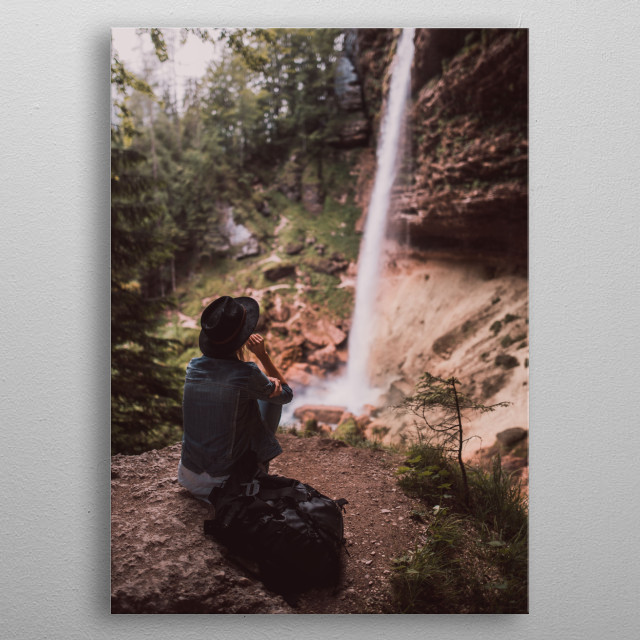 Pericnik waterfall, Slovenia metal poster