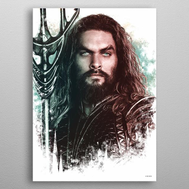 Aquaman Portrait metal poster
