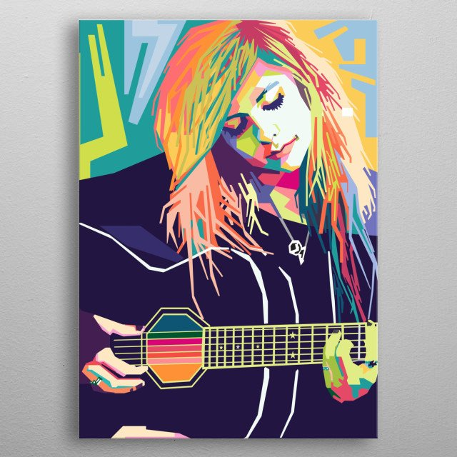a Canadian-French singer, songwriter, and actress metal poster