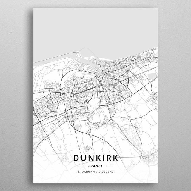 Dunkirk, France metal poster