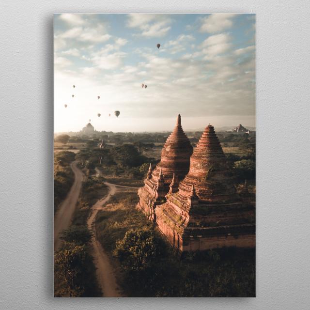 Bagan, Myanmar metal poster
