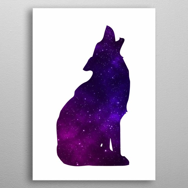Space Wolf Spirit of the Universe metal poster