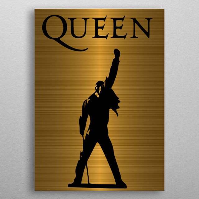 The king is Gold metal poster