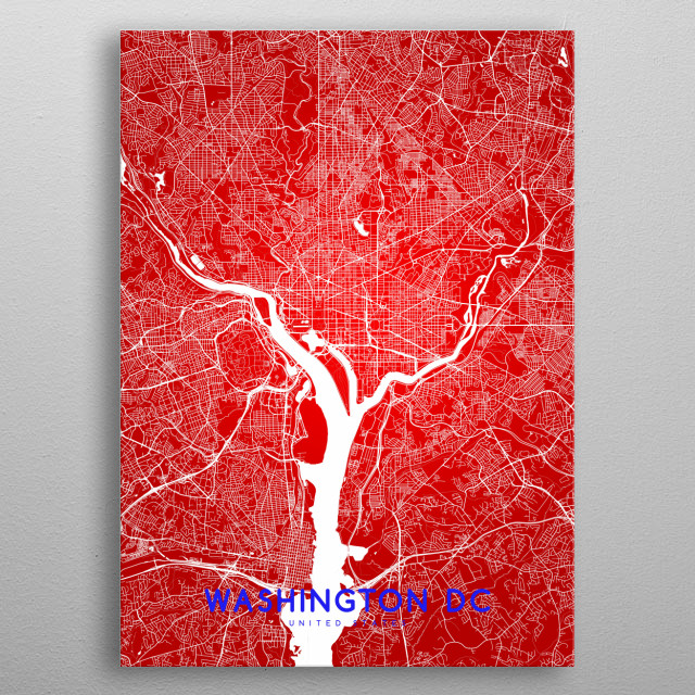 High-quality metal print from amazing Mapsies Maps collection will bring unique style to your space and will show off your personality. metal poster