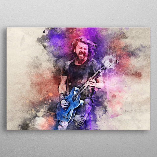 Dave Grohl is an American rock musician, multi-instrumentalist, singer-songwriter and also lead vocalist, guitarist, and founder of Foo Fig metal poster