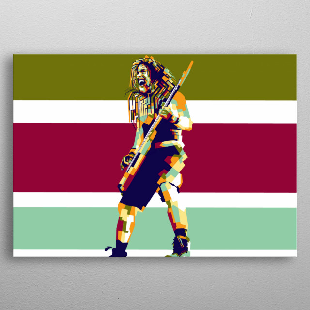 Steve harris artist legend in style wpap popart portrait colourful  metal poster
