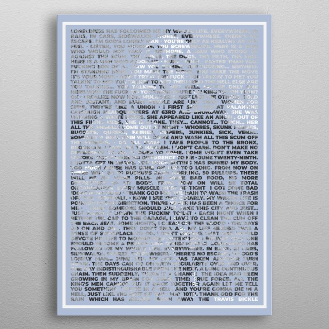 Famous Quotes from awesome Movies in typography form. metal poster