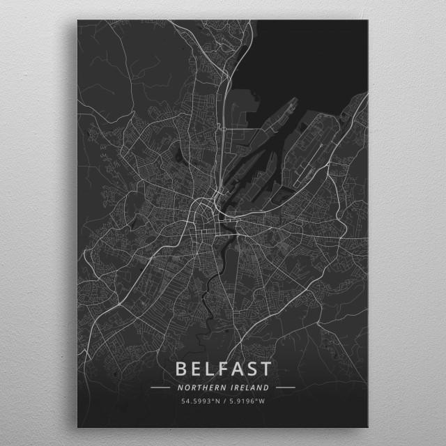Belfast, Northern Ireland metal poster