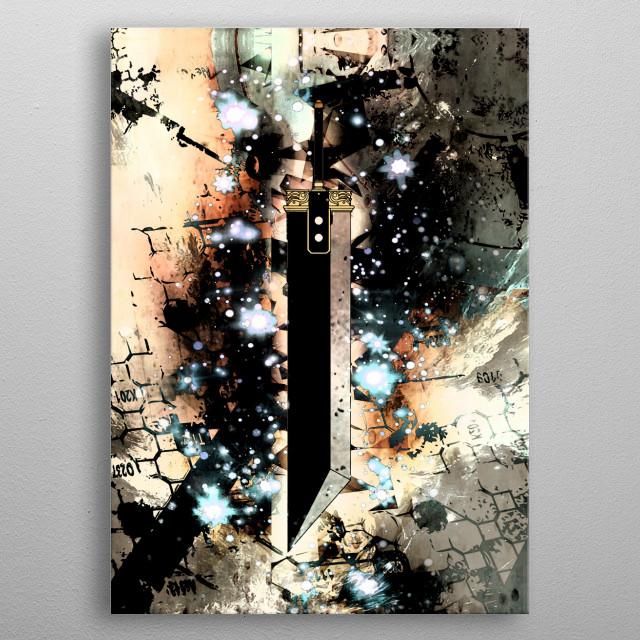 Vibrant buster sword metal poster