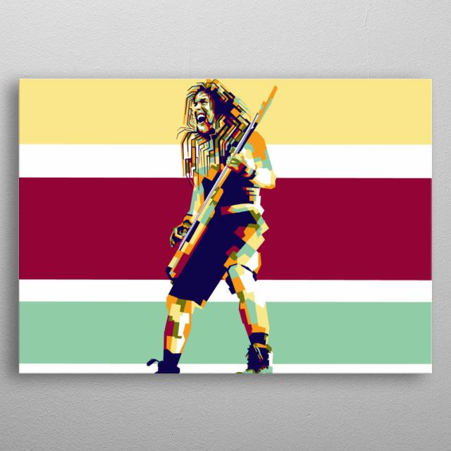 Steve harris artist legend in style wpap popart portrait colourful  metal poster