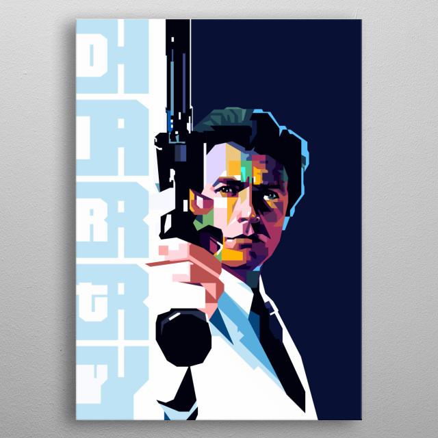 Clint Eastwood pop art style metal poster