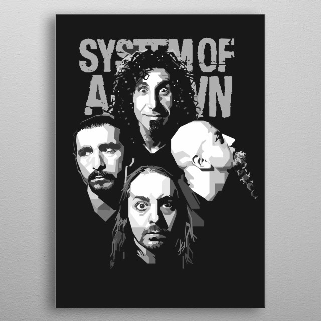 System of a Down (SOAD) is an Armenian-American heavy metal band  The band currently consists of Serj Tankian Daron Malakian Shavo Odadjian metal poster