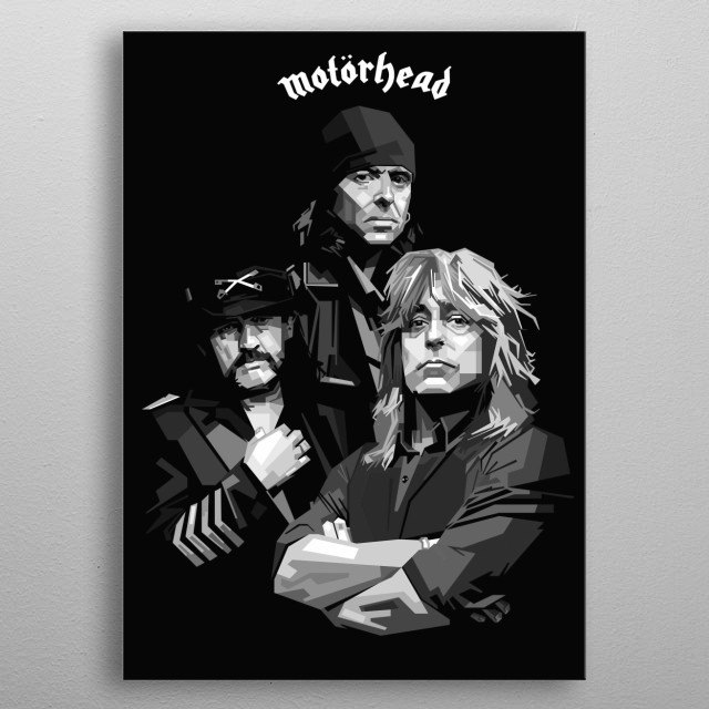 Motörhead were an English rock band formed in June 1975 by  Lemmy Kilmister, , guitarist Larry Wallis drummer Lucas Fox metal poster