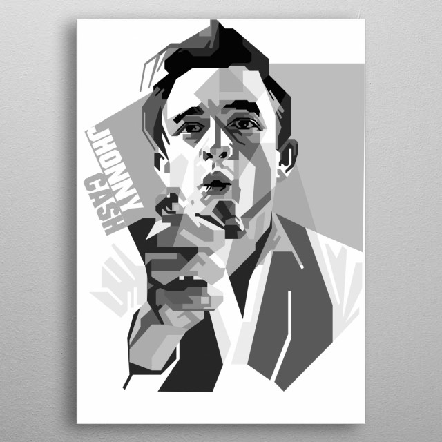 Johnny Cash born J.R. Cash was an American singer-songwriter, guitarist, actor, and He is one of the best-selling music artists of all time metal poster