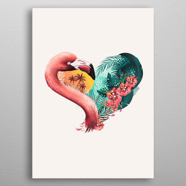 Tropical Heart metal poster