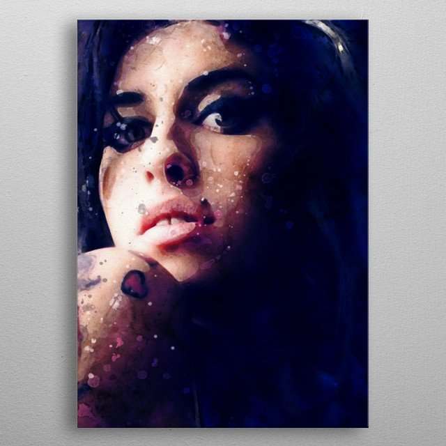 Amy Winehouse metal poster