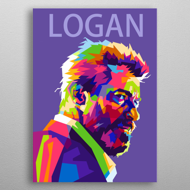 The beast on colorful popart portrait metal poster