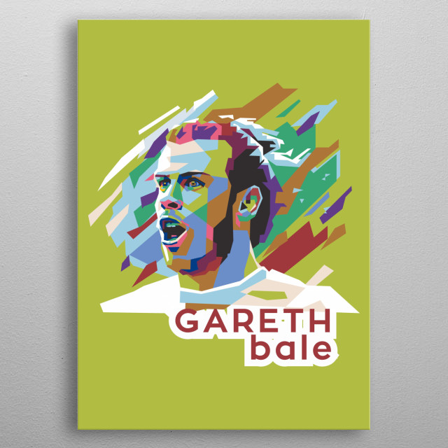 I use straight line techniques combined with pop colors making Bale a powerful, powerful and professional illustration metal poster