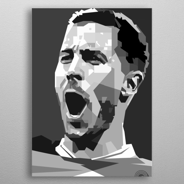 Eden Michael Hazard is a Belgian professional footballer who plays for English club Chelsea and captains the Belgium national team metal poster
