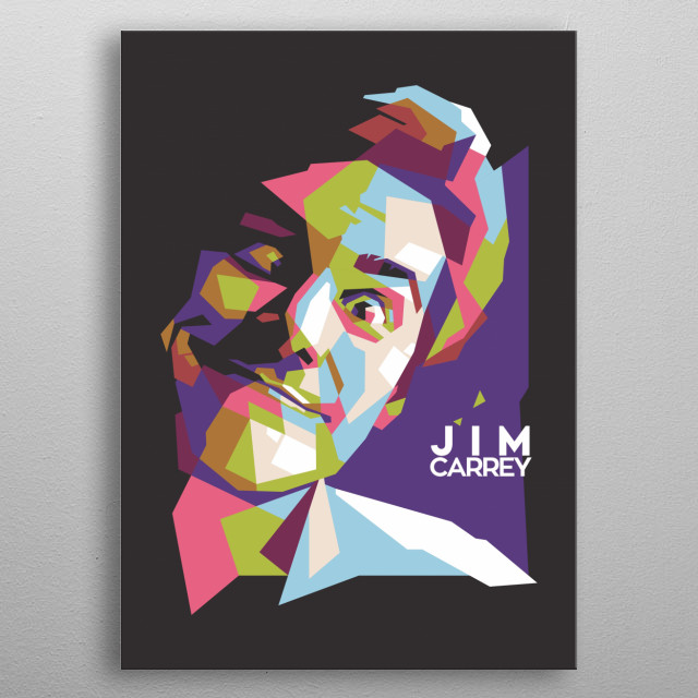 he is my favorite comedian. so that I made it a straight-line pop art style illustration making it happy metal poster