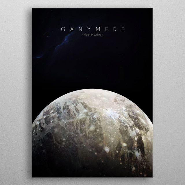 Moon of Jupiter metal poster
