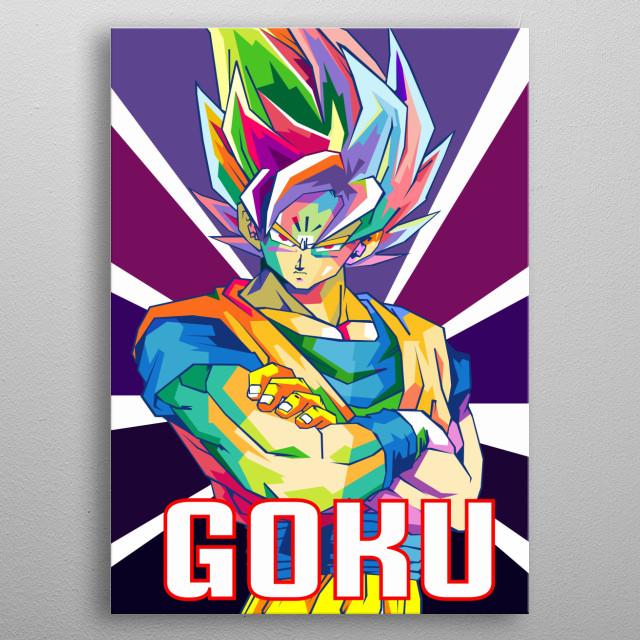 Dragon bBall  Z Goku metal poster
