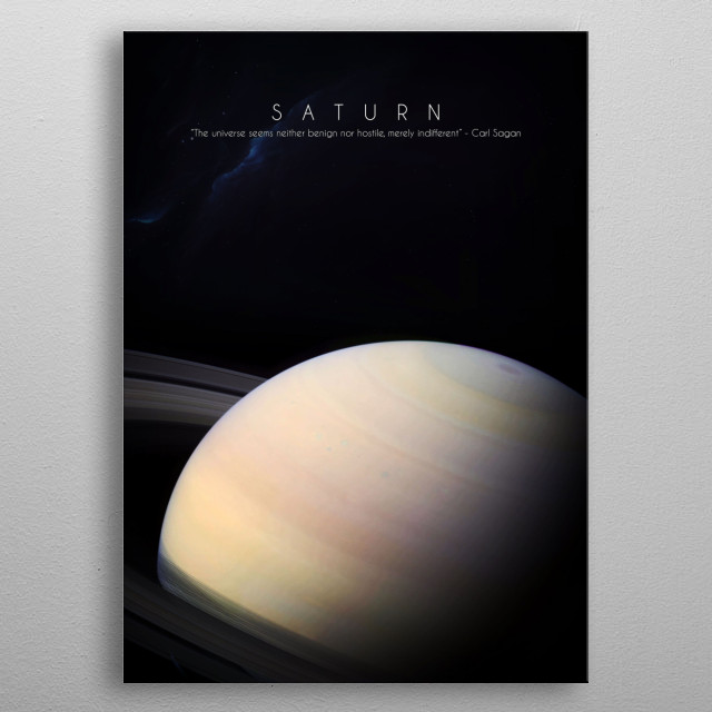 6th planet of our solar system metal poster