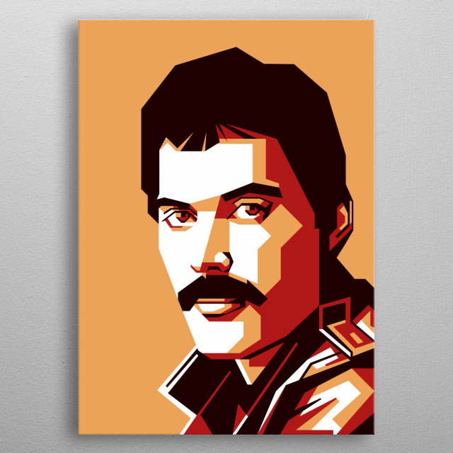 Freddie Mercury was a British singer-songwriter, record producer and lead vocalist of the rock band Queen. metal poster