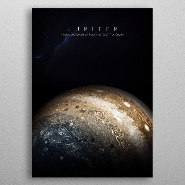 5th planet of our solar system metal poster