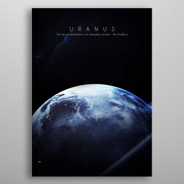 7th planet of our solar system metal poster