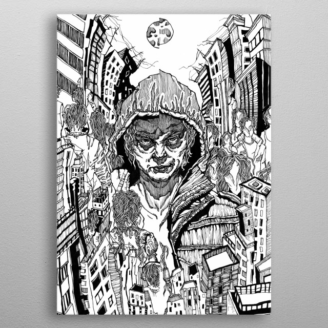 Concept illustration for graphic novel metal poster