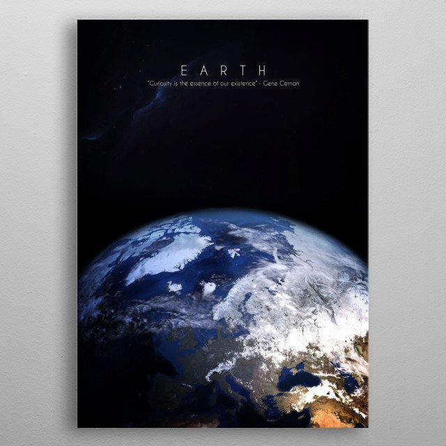 3rd planet of our solar system. Our home metal poster