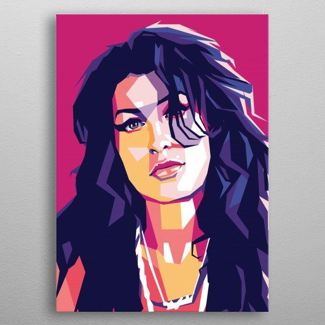 Amy Jade Winehouse was an English singer and songwriter metal poster