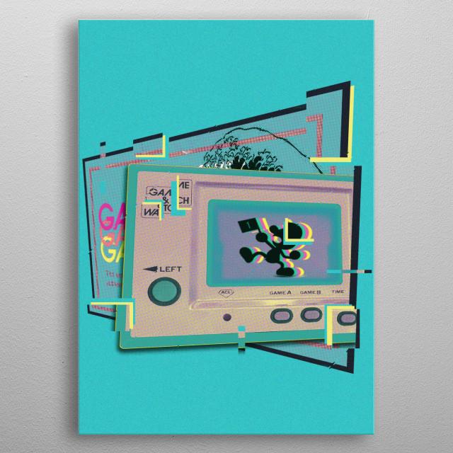 Mr Game Wave Vaporwave by Sekkai icon | metal posters - Displate