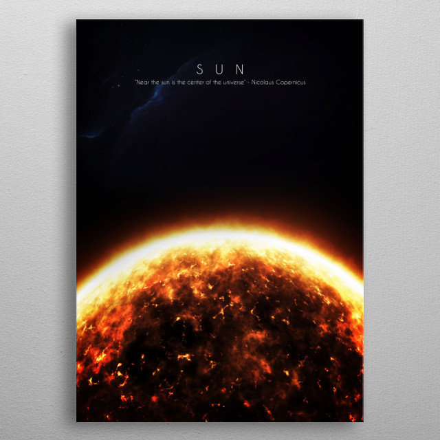 The only one star in our solar system metal poster