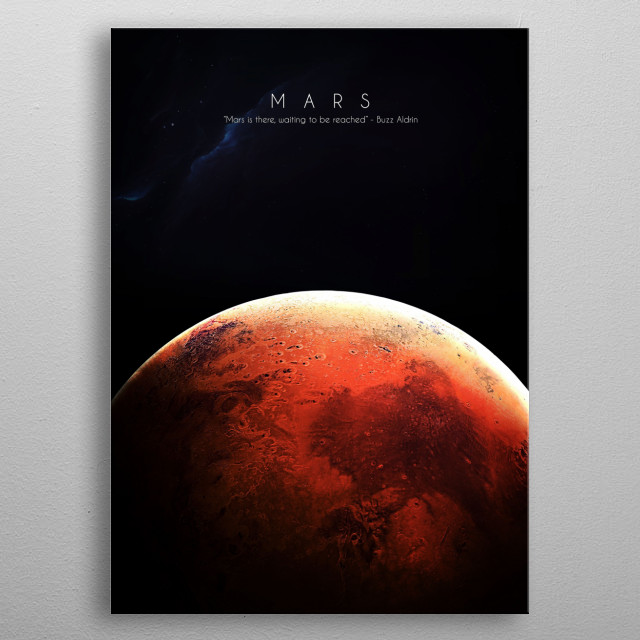 4th planet of our solar system metal poster