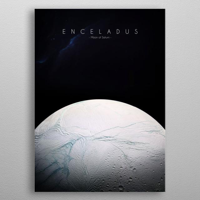 Moon of Saturn metal poster